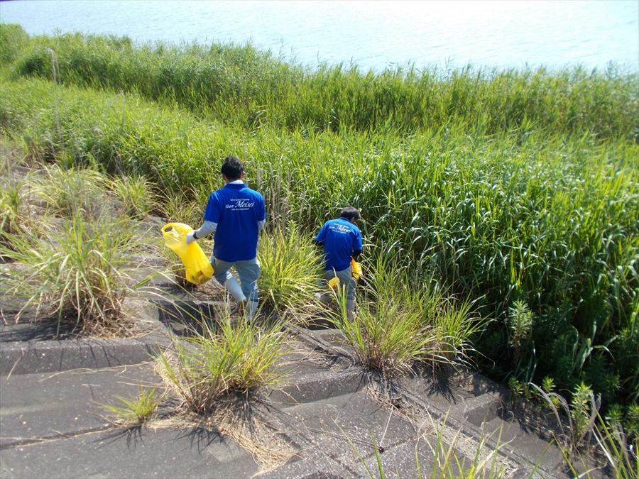 夏の恒例行事 益田川清掃活動に今年も参加しました。